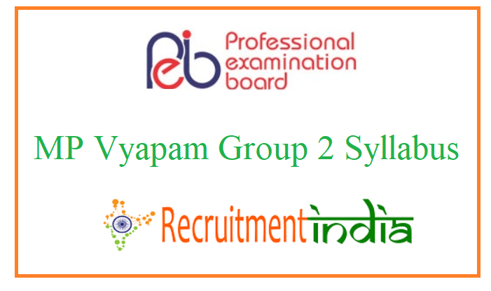 MP Vyapam Group 2 Syllabus