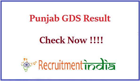 Punjab GDS Result