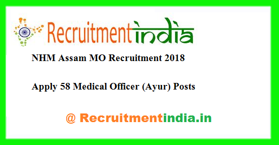 NHM Assam MO Recruitment