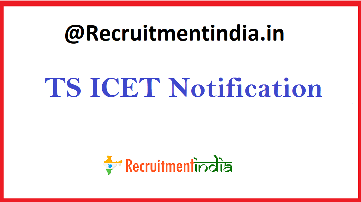 TS ICET 2020 Notification