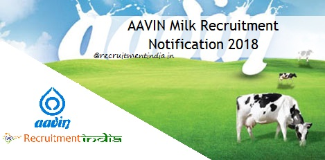 AAVIN Milk Recruitment 2018