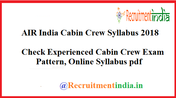 AIR India Cabin Crew Syllabus