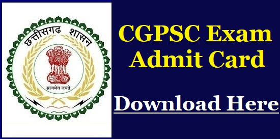 CGPSC Forest Ranger Admit Card