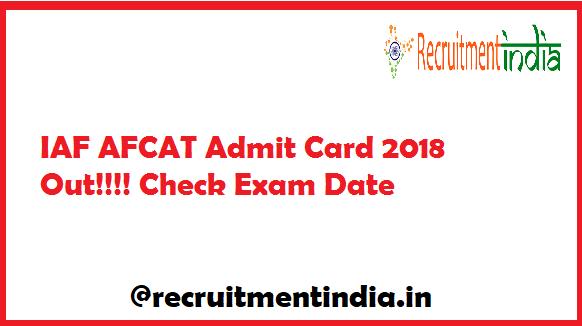 IAF AFCAT Admit Card