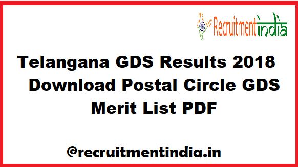 Telangana GDS Results