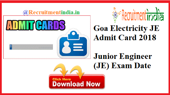 Goa Electricity Department JE Admit Card