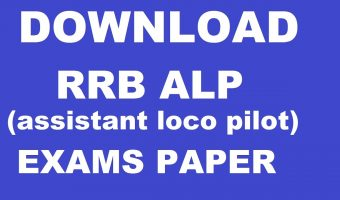 RRB ALP Previous Papers 2018 – Download Assistant Loco Pilot & Technician Grade III Posts Solved Papers