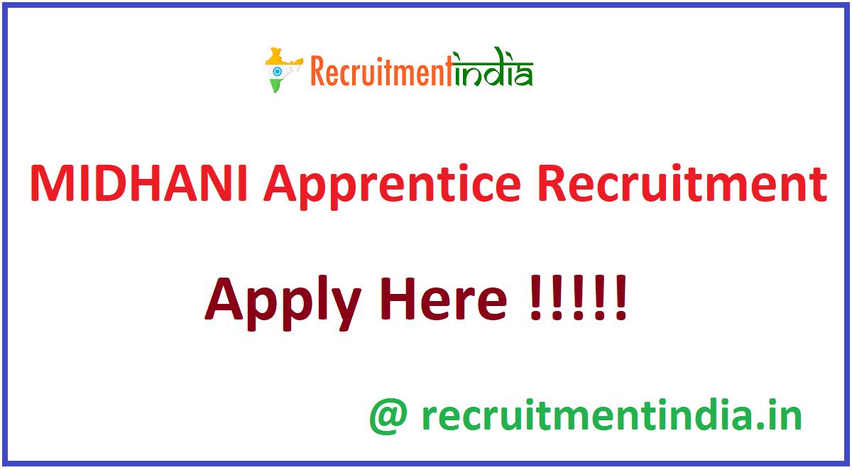 MIDHANI Apprentice Recruitment