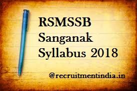 RSMSSB Sanganak Syllabus 2018