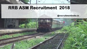 RRB ASM Recruitment Notification 2018