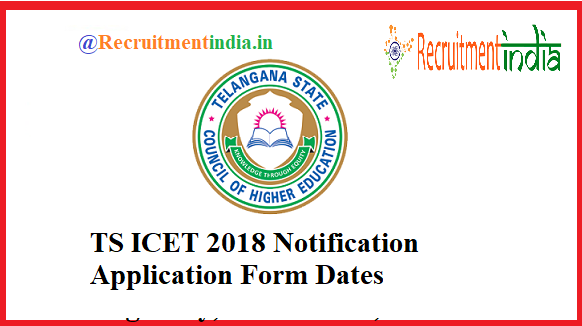 TS ICET 2018 Notification