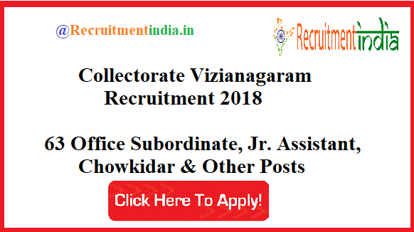 Collectorate Vizianagaram Recruitment