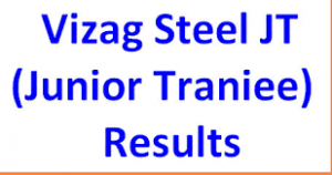 Vizag Steel Plant Junior Trainee Results