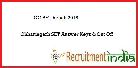 CG SET Result 2018
