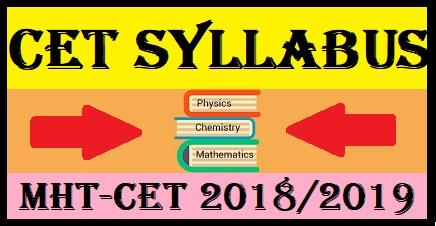 MHT CET 2018 Syllabus