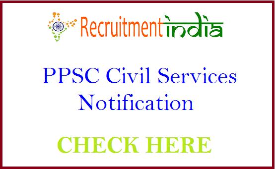 PPSC Civil Services Notification
