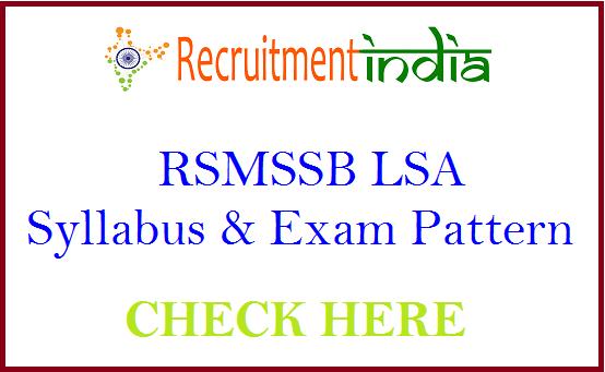 RSMSSB LSA Syllabus