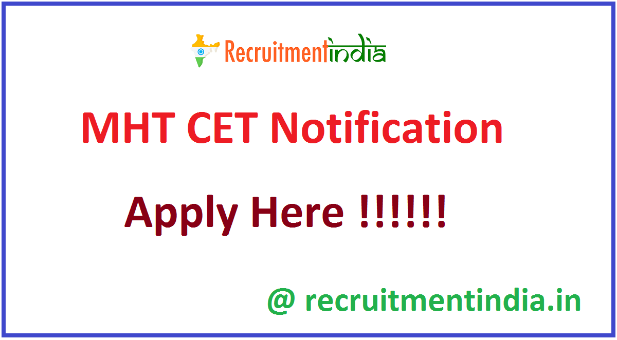 MHT CET Notification