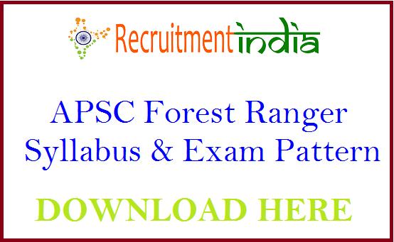 APSC Forest Ranger Syllabus