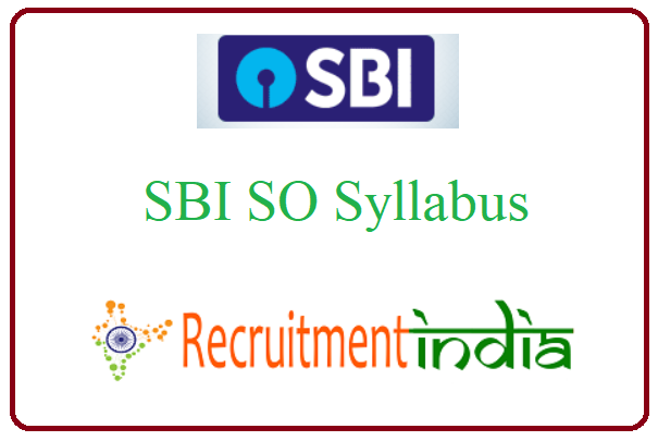 SBI SO Syllabus