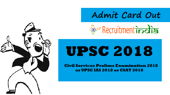 UPSC Civil Services Admit Card