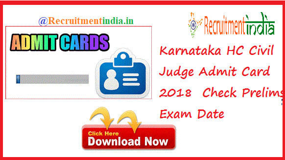 Karnataka High Court Civil Judge Admit Card