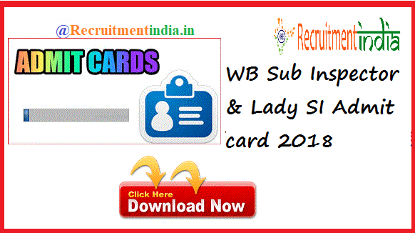 WB SI Admit Card