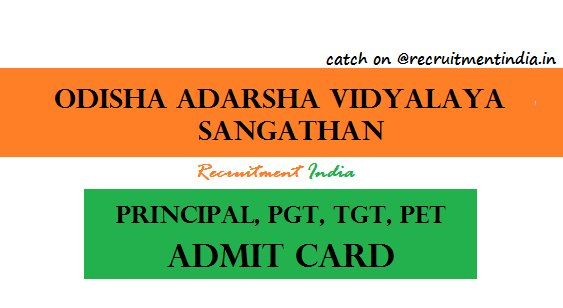 OAVS PGT TGT Admit Card