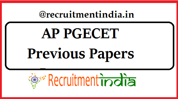 AP PGECET Previous Papers Last 10 Yrs  Quest  Papers & Answers