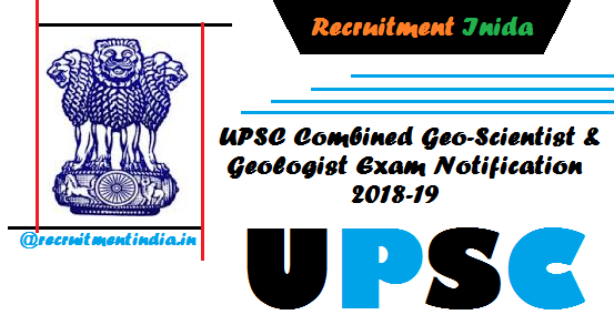 UPSC Combined Geo-Scientist & Geologist Exam