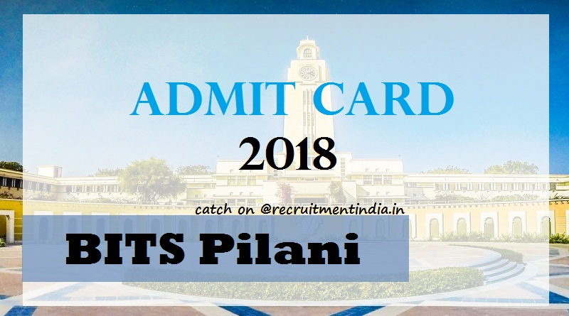 BITS Pilani Admit Card