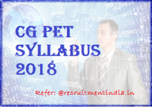 CG PET Syllabus 2018
