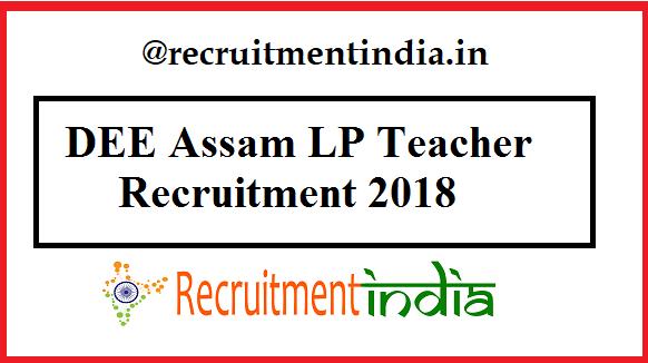 DEE Assam LP Teacher Recruitment