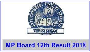 MP Board 12th Results 2018