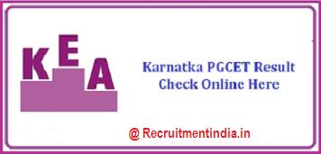Karnataka PGCET Result