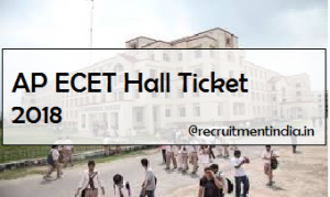 AP ECET Hall Ticket 2018