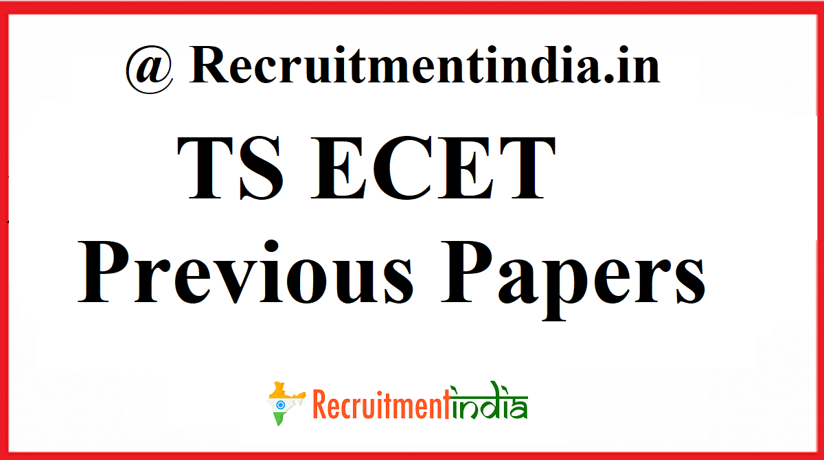 TS ECET Previous Papers