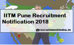 IITM Pune Recruitment