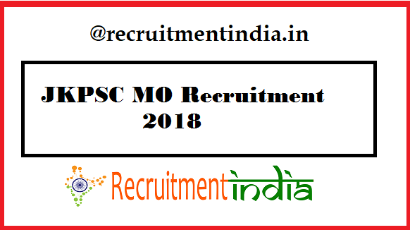 JKPSC MO Recruitment