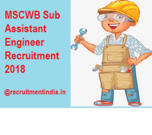 MSCWB Sub Assistant Engineer Recruitment 2018