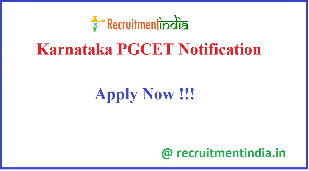 Karnataka PGCET Notification