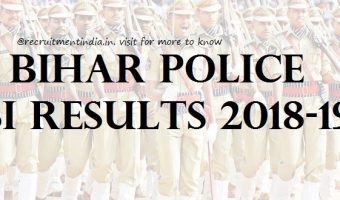 Bihar Police SI Results 2018 Released || Download BPSSC Sub-Inspector Police Prelims Exam Merit List & Answer Keys