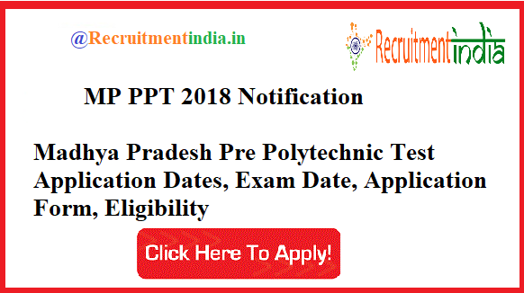 MP PPT 2018 Notification