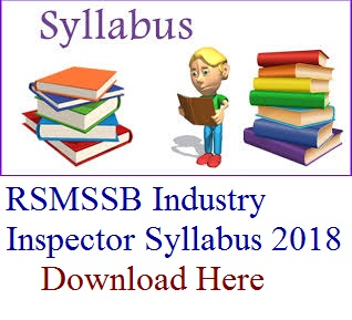 RSMSSB Industry Inspector Syllabus
