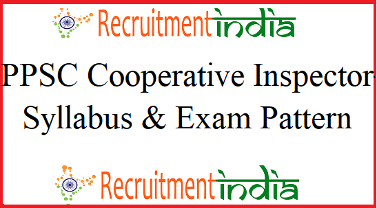 PPSC Cooperative Inspector Syllabus