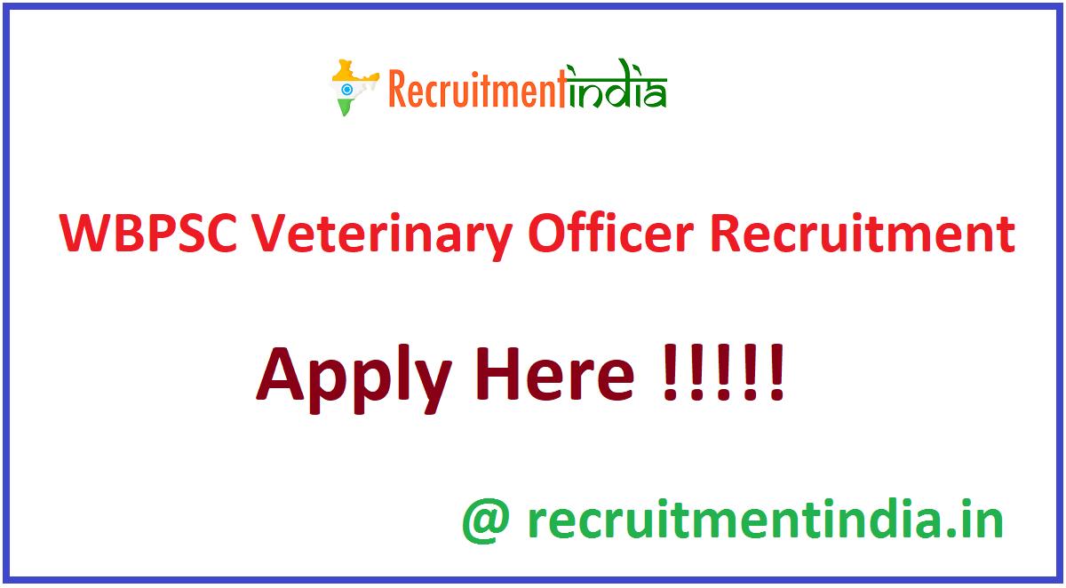 WBPSC Veterinary Officer Recruitment