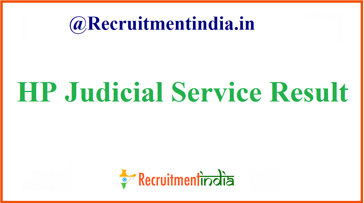 HP Judicial Services Result