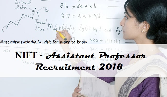NIFT Assistant Professor Recruitment