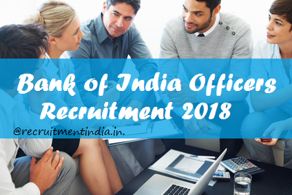 Bank of India Officers Recruitment