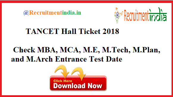 TANCET Hall Ticket